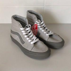 Light gray Sk8 Hi Vans